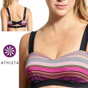Athleta Capri Stripe Pura Bikini Top Swim Surf Bra